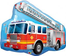 Red Fire Engine Super Shape Foil Balloon